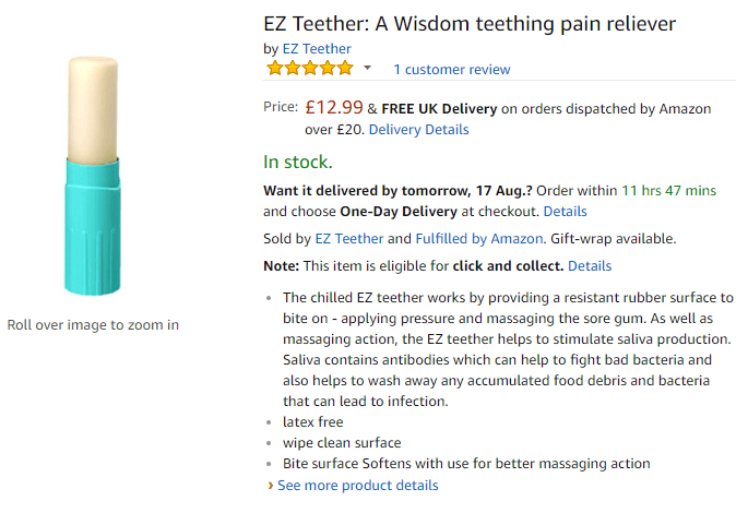 EZ Teether Amazon Listing V2